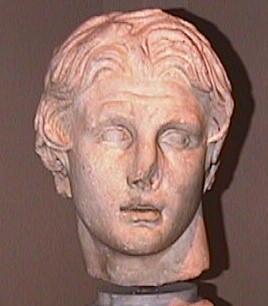 Head of Alexander from Pergamon in the Istanbul Archaeological Museum